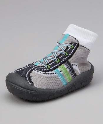 Lead Gray Baby Funny Gripper Shoe