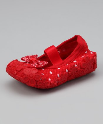 Red Dolls Baby Gripper Shoe