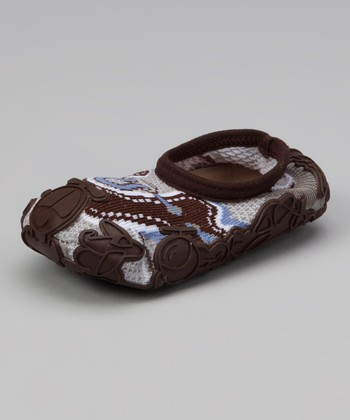 Brown Baby Joy Gripper Shoe