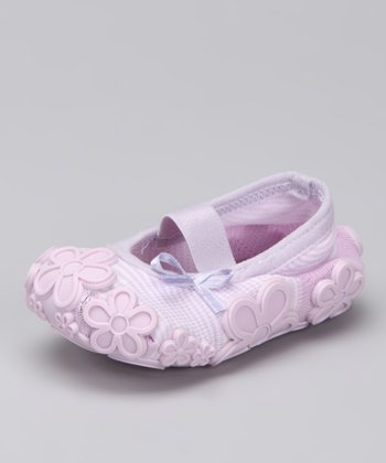 Lavender Flower Baby Dolls Grippy Booties