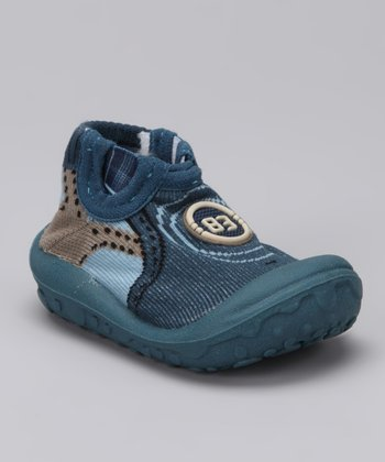 Simpls by Puket Navy Baby Late Grippy Booties
