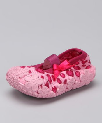 Pink Leopard Baby Dolls Grippy Booties