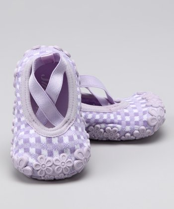 Lilac Baby Dolls Grippy Booties