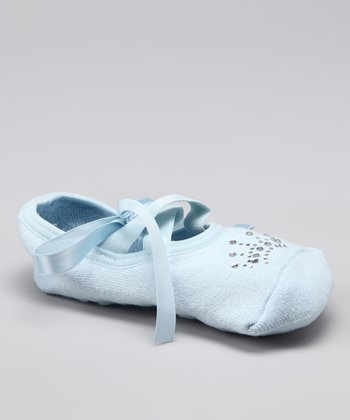 Baby Blue Ballet Gripper Socks