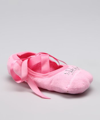 Pink Ballet Gripper Socks