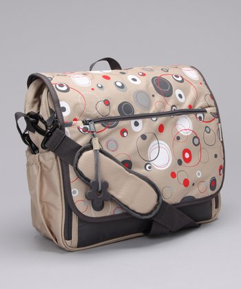Simply Good Red & Gray Circles Daisy Diaper Bag