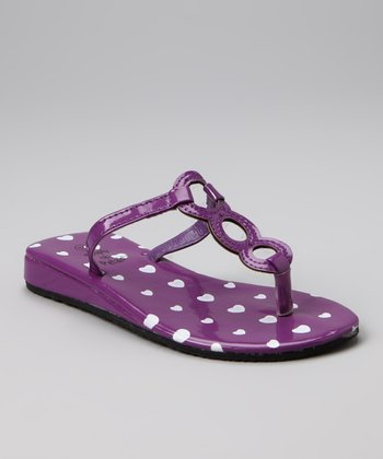 Purple Heart Iva Sandal