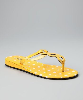 Yellow Heart Iva Sandal