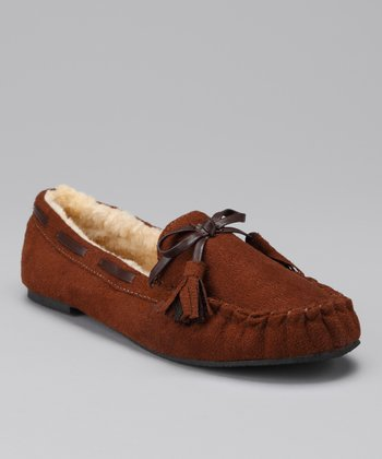 Simply Petals Brown Moccasin