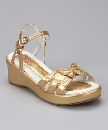Gold Bow New Sandal