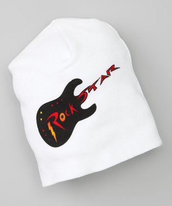 White 'Rock Star' Tattoo Beanie
