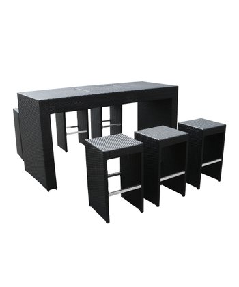 Seven-Piece Bar Dining Set