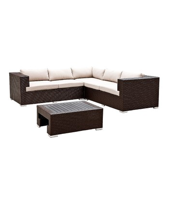 Pacific Deep-Seating Four-Piece Corner Sofa Set