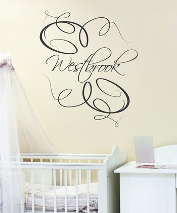 Black Elegance Personalized Wall Decal
