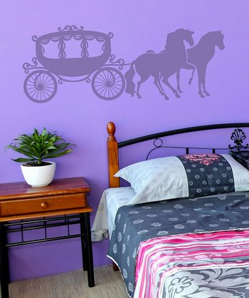 Lavender Carriage Wall Decal