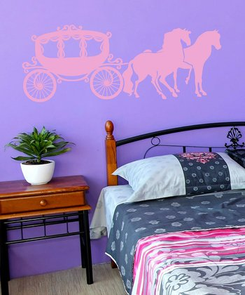 Soft Pink Carriage Wall Decal