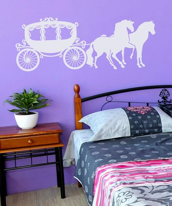 White Carriage Wall Decal