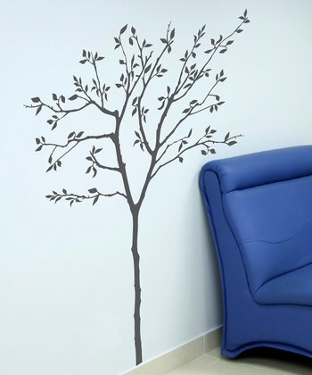Storm Gray Spring Tree Wall Decal