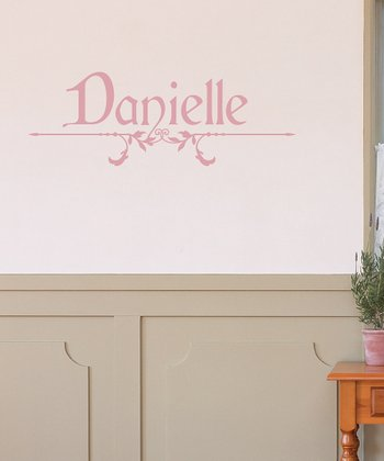 Soft Pink Cardinal Personalized Wall Decal