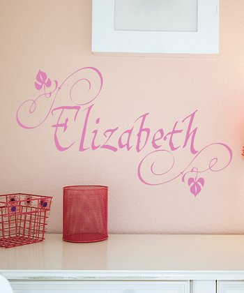 Soft Pink Elizabethan Personalized Wall Decal