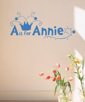 Azure Crown Personalized Wall Decal