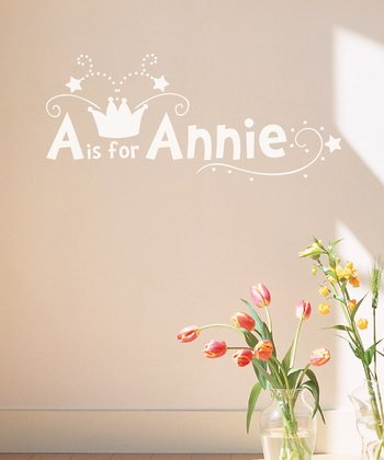 White Crown Personalized Wall Decal