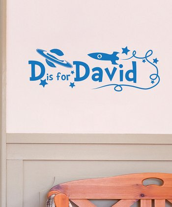 Azure D is for David Personalized Wall Decal