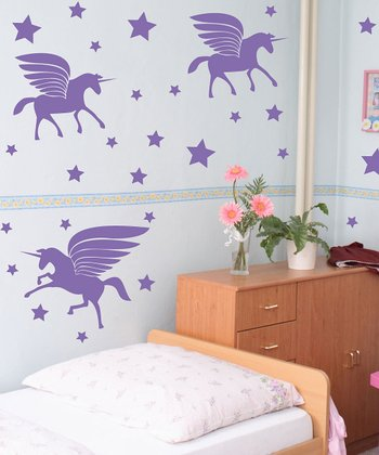 Sissy Little Lavender Unicorn Magic Wall Decal