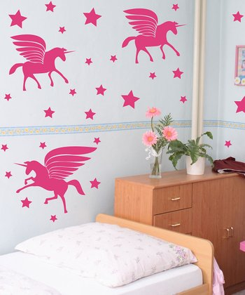 Sissy Little Pink Unicorn Magic Wall Decal