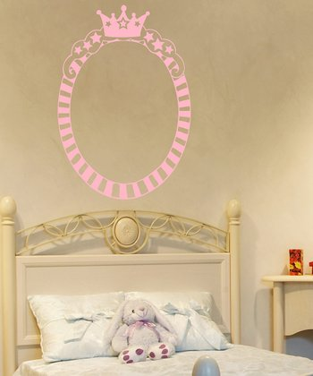 Carnation Princess Oval Frame Wall Decal