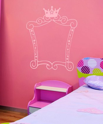 Carnation Princess Square Frame Wall Decal