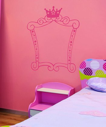 Pink Princess Square Frame Wall Decal