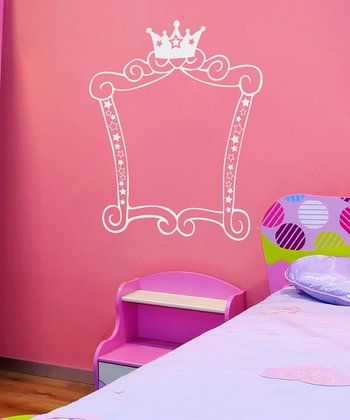 White Princess Square Frame Wall Decal