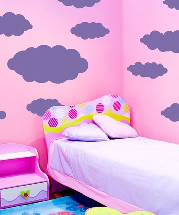 Lavender Happy Little Cloud Wall Decal Set
