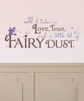 Brown & Lavender 'Fairy Dust' Wall Decal