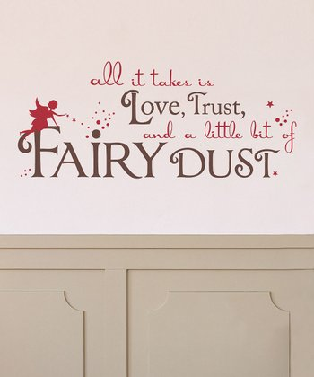 Brown & Red 'Fairy Dust' Wall Decal