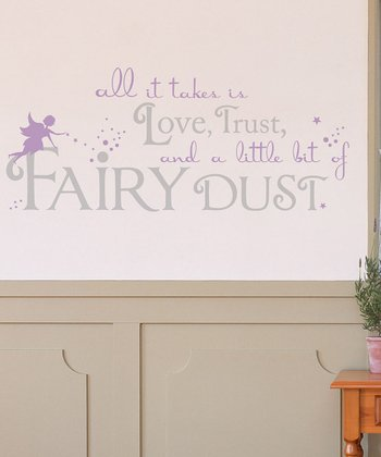 Lilac & Light Gray 'Fairy Dust' Wall Decal