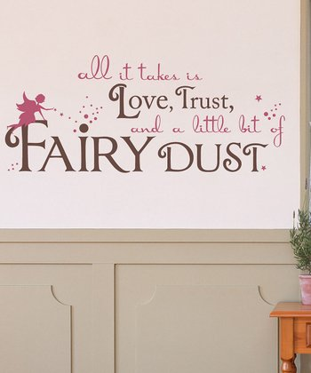 Lipstick & Brown 'Fairy Dust' Wall Decal