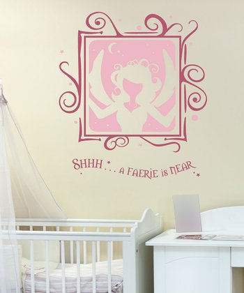 Sissy Little Carnation & Lipstick 'A Faerie is Near' Wall Decal