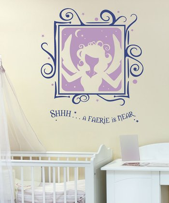 Sissy Little Violet & King Blue 'A Faerie is Near' Wall Decal