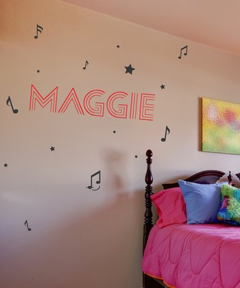 Red & Black Famous Personalized Wall Decal