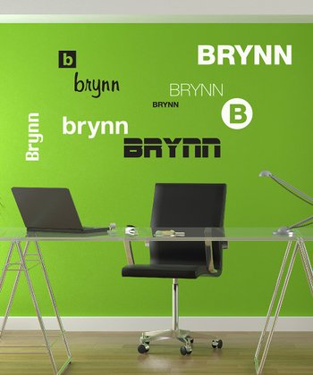 Black & White Name Fun Personalized Wall Decal