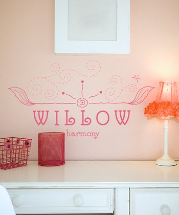 Soft Pink & Carnation Free Spirit Personalized Wall Decal