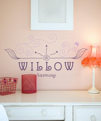 Violet & Lilac Free Spirit Personalized Wall Decal