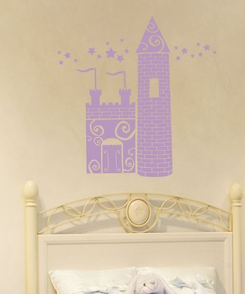 Lilac Princess Castle Wall Decal