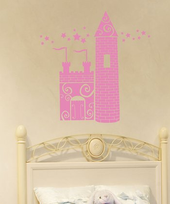 Soft Pink Princess Castle Wall Decal