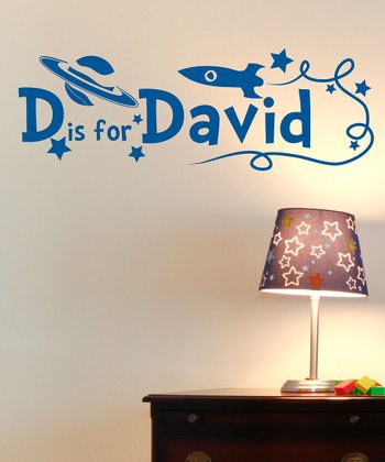 Blue Personalized Initial Wall Decal