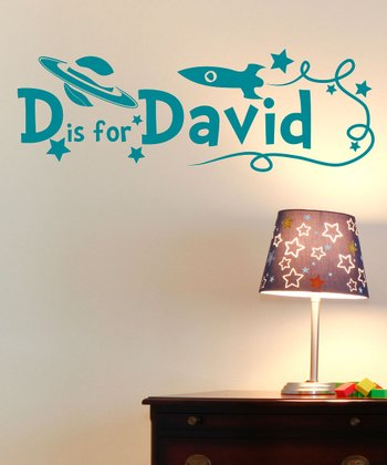 Sissy Little Turquoise Personalized Wall Decal