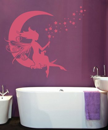 Lipstick Moon Fairy Wall Decal