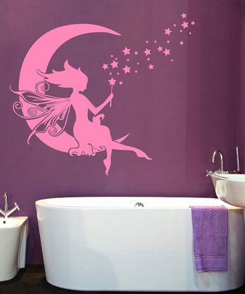 Soft Pink Moon Fairy Wall Decal